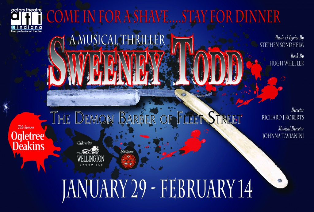 SWEENEY TODD - FRONT OF POSTCARD